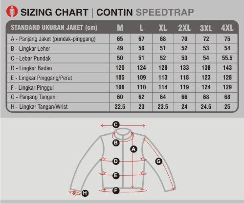 ukuran jaket contin speedtrap