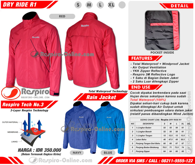 jaket anti air respiro