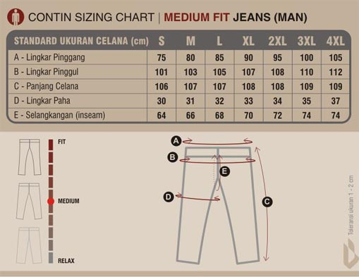 celana jeans contin