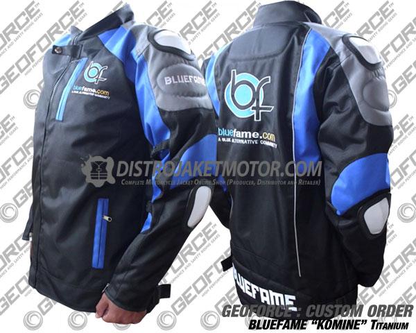 komine jaket motor custom bluefame