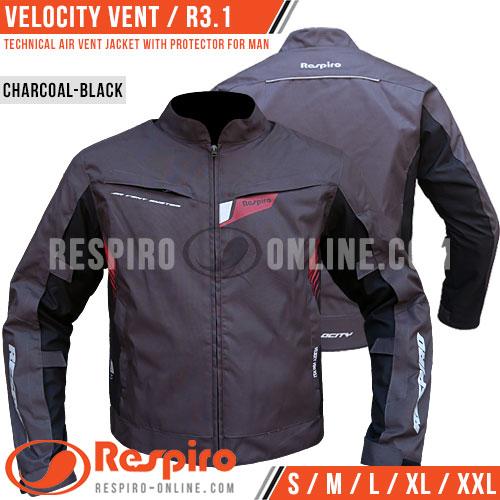 Jaket-Respiro-VELOCITY-VENT-Charcoal-Black