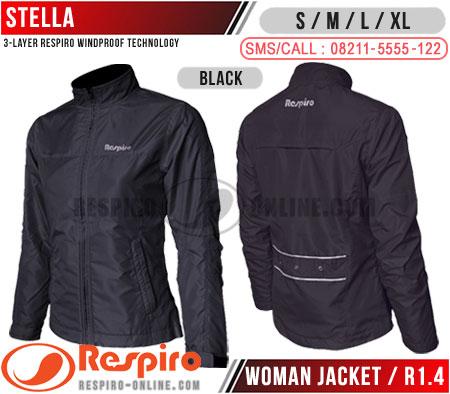 Jaket-Wanita-Respiro-STELLA-R1-Black